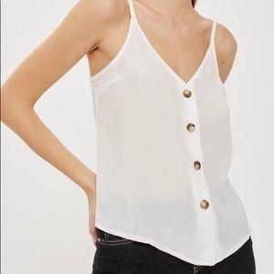 NWT Topshop White Button Up Cami